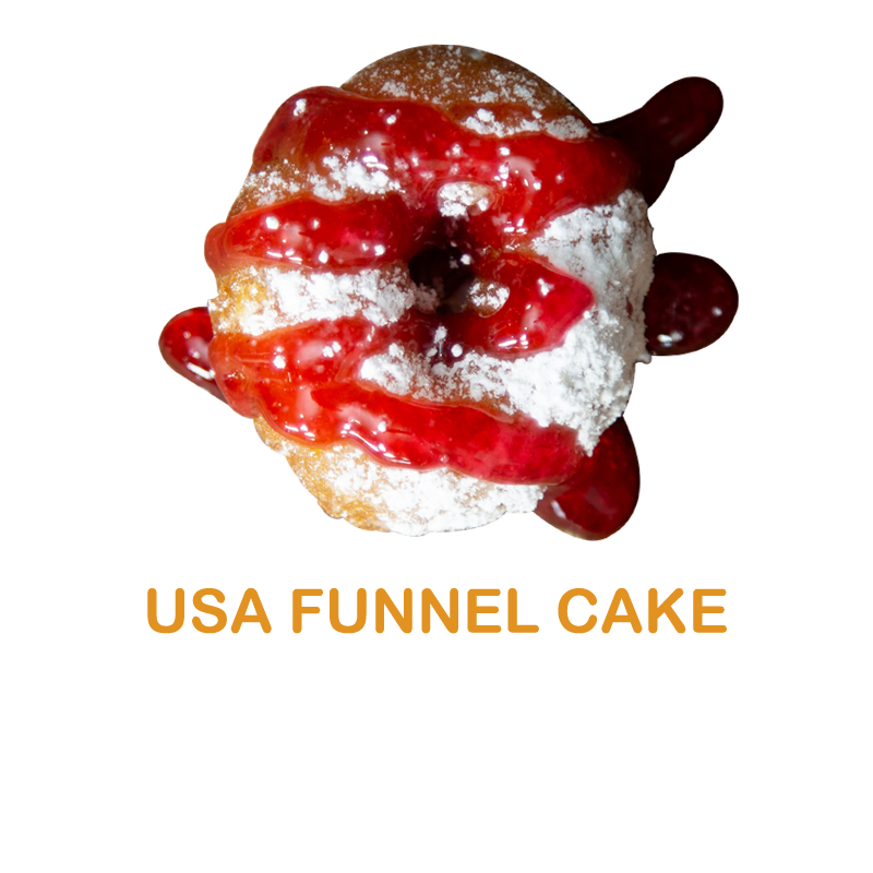 luv'em usa funnel cake mini donut