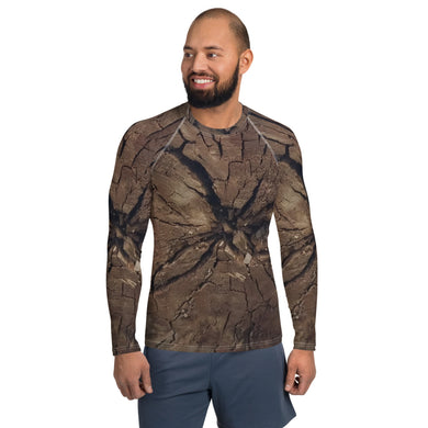 Men's Rash Guard Woodcut