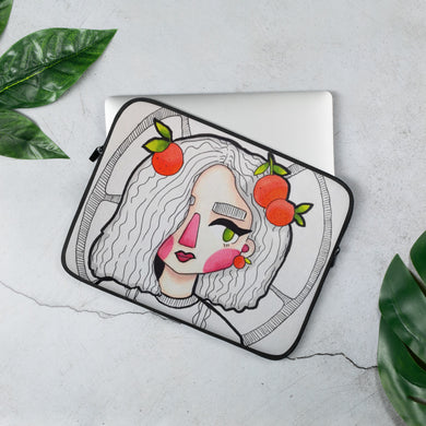Laptop Sleeve Red Cheeks (Design by Rosie Gibson)