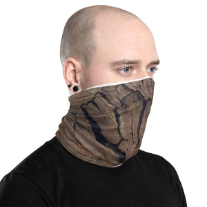 Neck Gaiter Right side Woodcut design