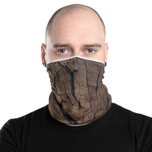 Neck Gaiter Front Woodcut Design