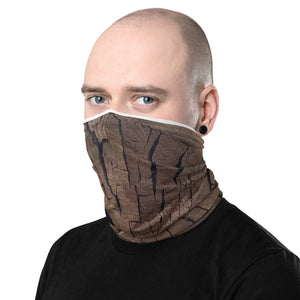 Neck Gaiter Left Side Woodcut Design