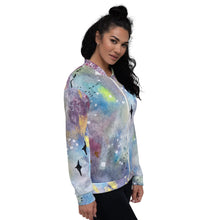 Load image into Gallery viewer, Unisex Bomber Jacket Galaxy right