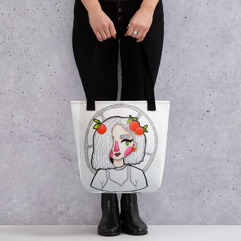 Tote bag Red Cheeks (Design by Rosie Gibson)