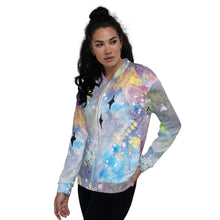 Load image into Gallery viewer, Unisex Bomber Jacket Galaxy left