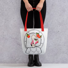 Load image into Gallery viewer, Tote bag Red Cheeks (Design by Rosie Gibson)