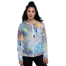 Load image into Gallery viewer, Unisex Bomber Jacket Galaxy front