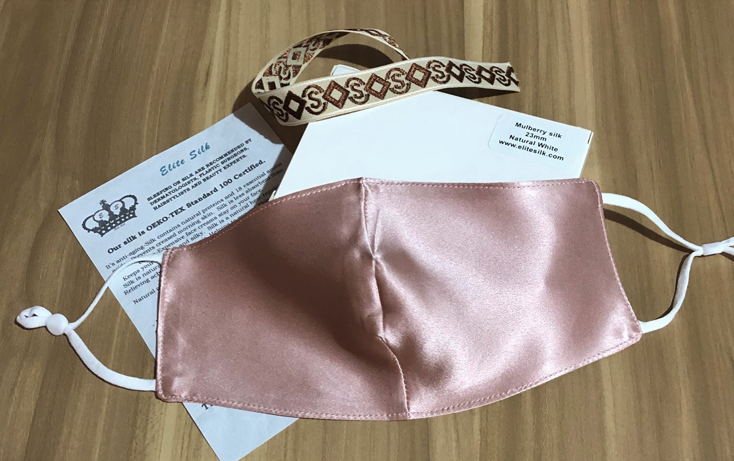 Face Mask Made in New Zealand - Double Layer Mulberry Silk - ELITE SILK NEW ZEALAND