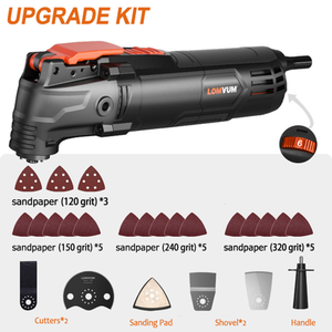 350W Professional Electric Oscillating Cutting Tool Kit
