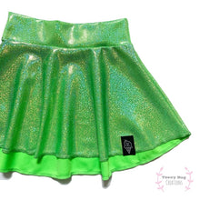 Load image into Gallery viewer, Lime Green Skater Skirt