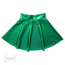 Load image into Gallery viewer, Festive Green Skater Skirt