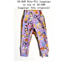 Load image into Gallery viewer, Pizza Love Leggings/Harem Pants/Joggers/Slim-Fit Leggings