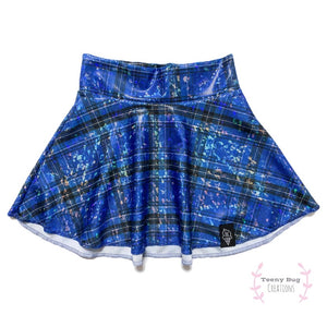 Blue Plaid Skater Skirt