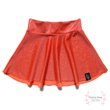 Load image into Gallery viewer, Wicked Orange Skater Skirt