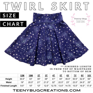 Grunge Heart Twirl Skirt