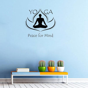 Wall Decal Stickers - Peace for Mind Yoga