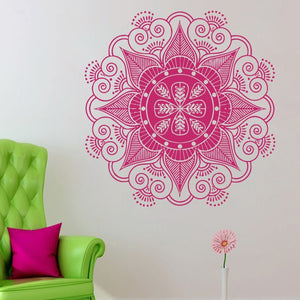 Wall Decal Stickers - Yoga Mandala Menhdi Lotus Pattern
