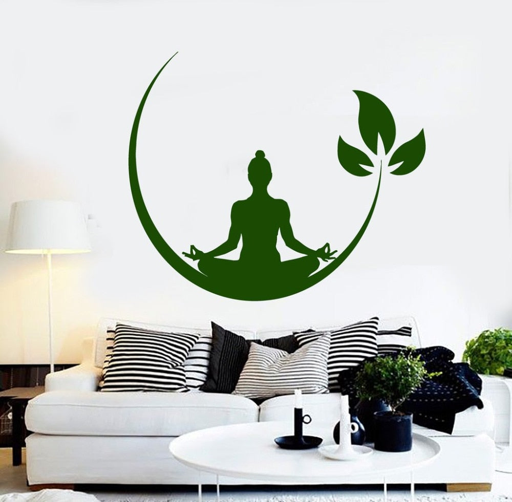 Wall Decal Stickers - Yoga Zen Meditation
