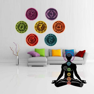Wall Decal Stickers - 7 Chakras Mandala