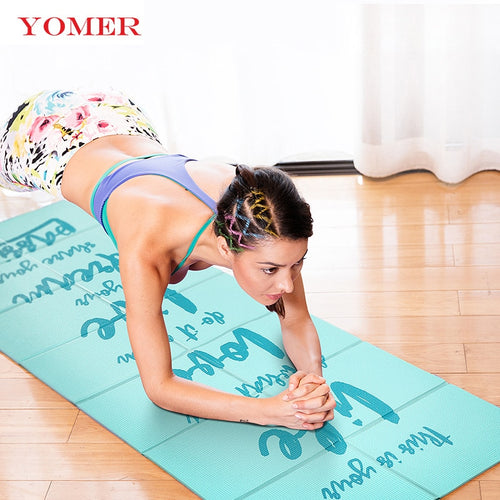 YOMER 5mm Non-slip Foldable Yoga Mats