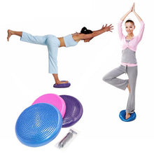 Load image into Gallery viewer, Yoga Balancing Inflatable Ball Pad
