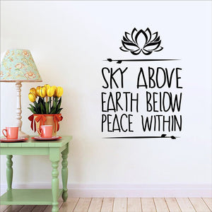 Wall Decal Stickers - Yoga Meditation Quotes