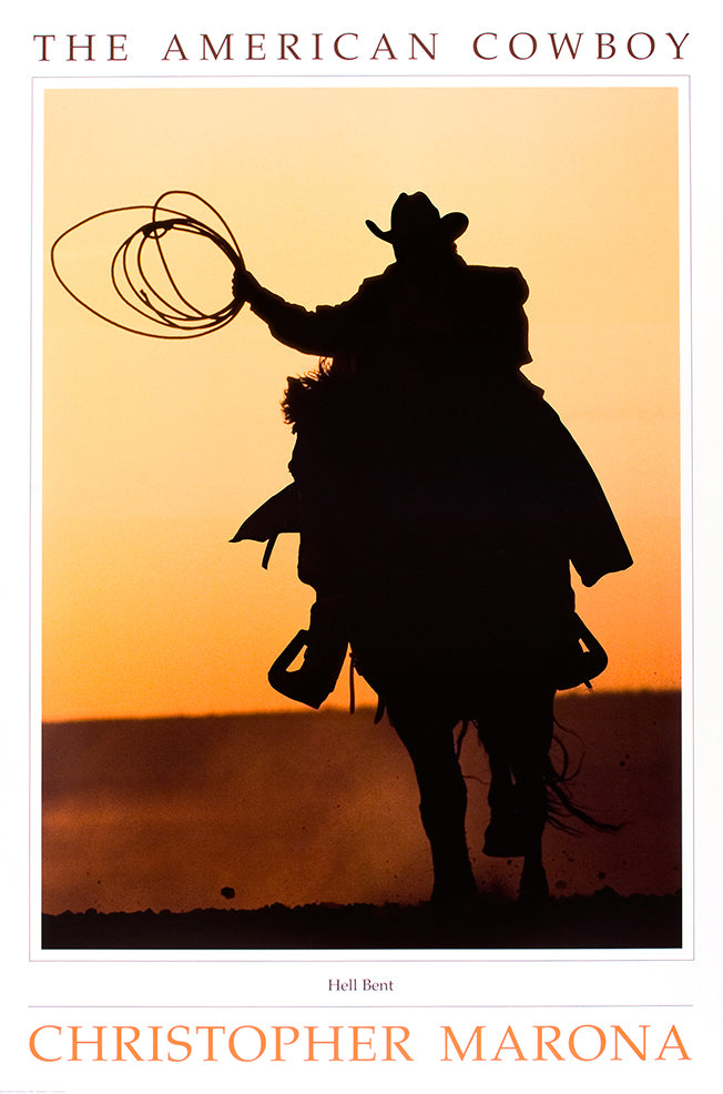 Hell Bent Lithograph - American Cowboy Art