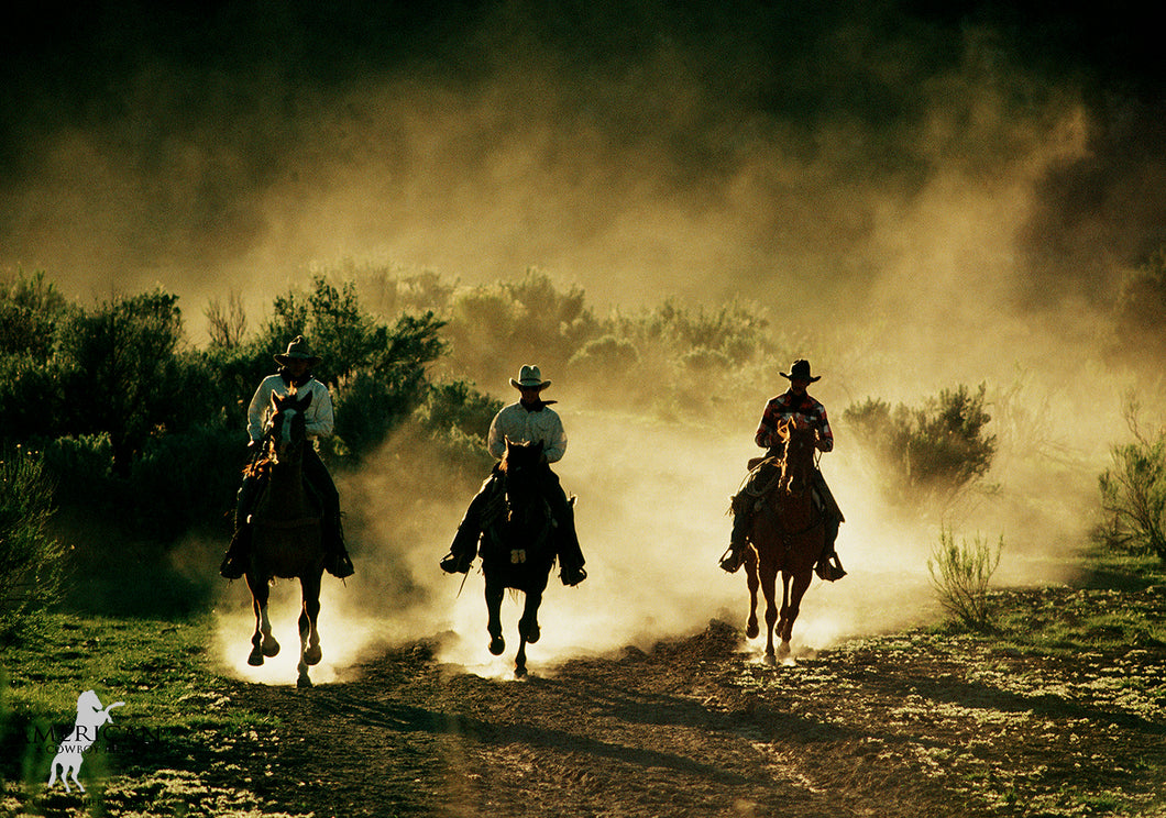 Riders on the Edge of Night - Limited Edition - American Cowboy Art