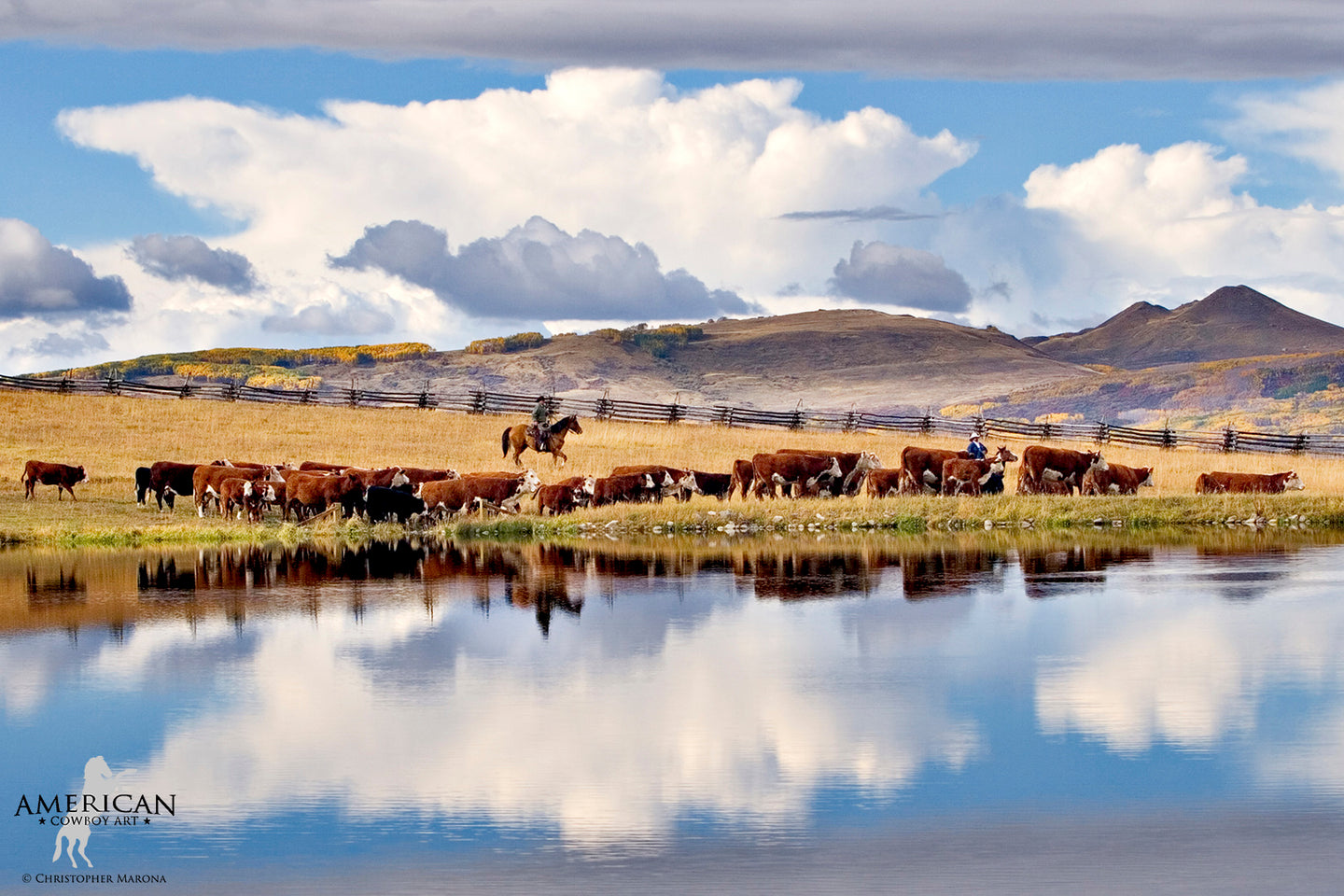 Reflections of a Roundup - American Cowboy Art