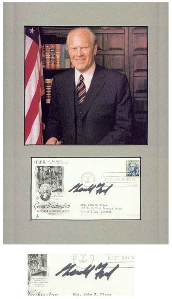 President Gerald R. Ford Signed 11x14 Display
