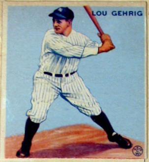 Lou Gehrig Rookie Card