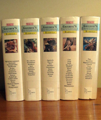 Grzimek's Encyclopedia Of Mammals : Complete Five Volume Set