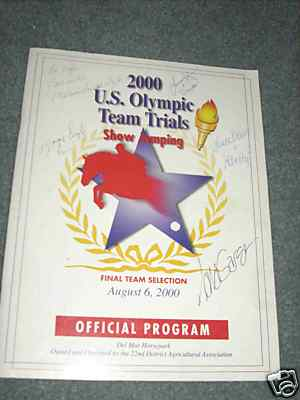 2000 U.s. Olympic Team Trials (horse) Show Jumping Official Program