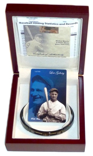 Major League Baseball Game Used Memorabilia - Babe Ruth And Lou Gehrig Bracelet