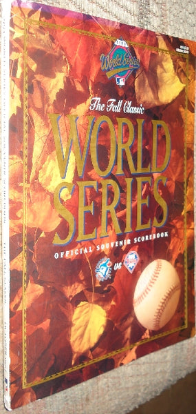 The Fall Classic World Series Official Souvenir Scorebook