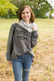 Wooden Ships Football Mom Sweater