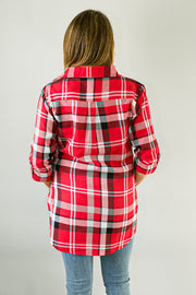 Ohio State Buckeyes Boyfriend Plaid Shirt