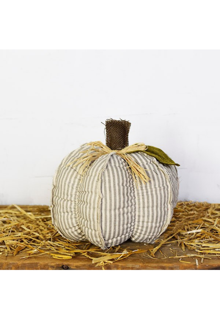 "9"" Grey Stripe Pumpkin"