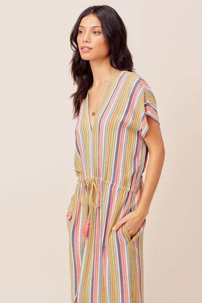 Retro Stripe Midi