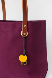 R. Riveter Wilson Cabernet + Brown Leather Tote