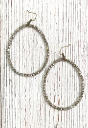 Big Crystal Hoop Earring