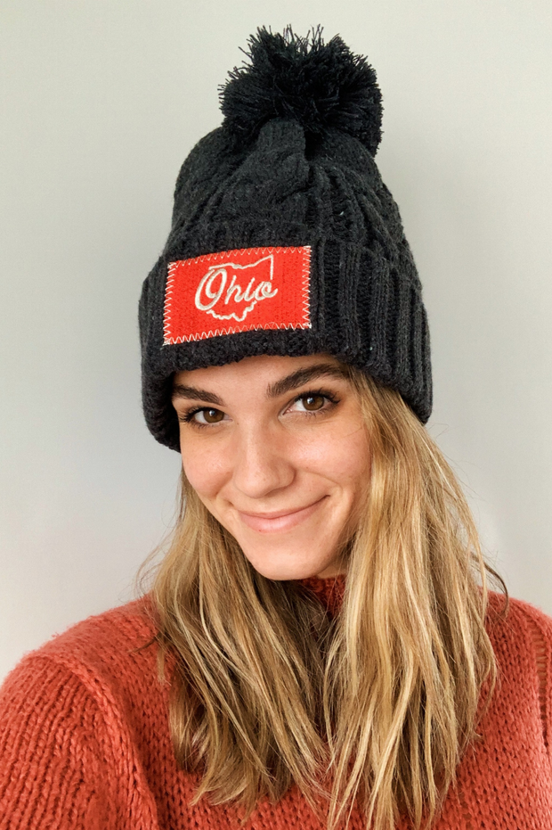 Ohio Cable Knit Pom