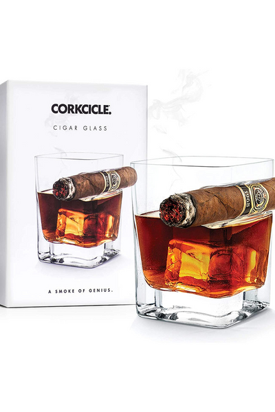 cigar glass corkcicle whiskey
