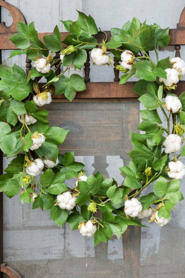 Green Cotton Wreath