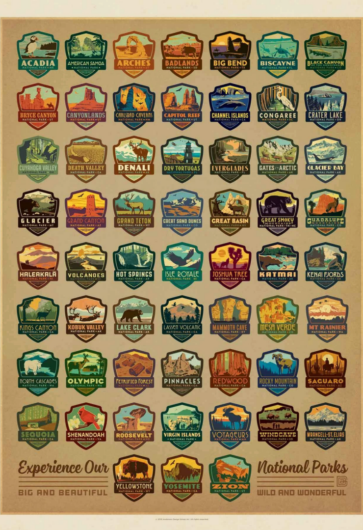 National Parks Emblems Puzzle