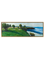 Clubhouse Framed Oil Painting
