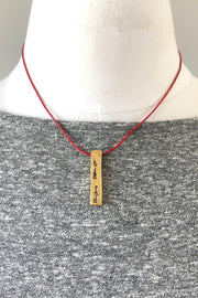 InspireDesigns Goal Post Stamped Necklace