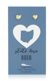 State Love Ohio Earrings