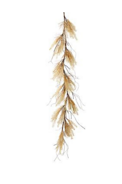 6' Rattail Grass Garland BE/CR