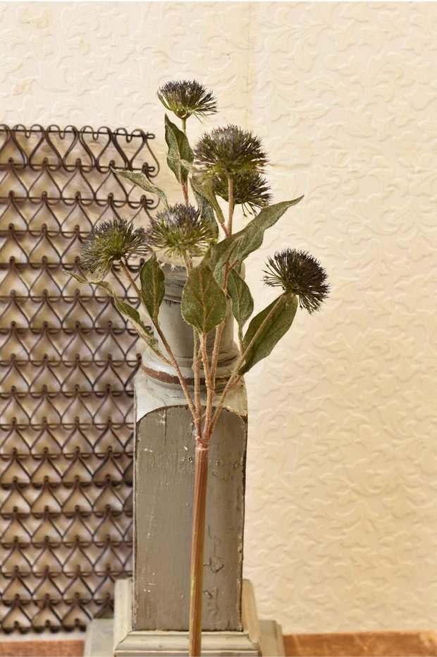 "27""Globe Thistle Spray"